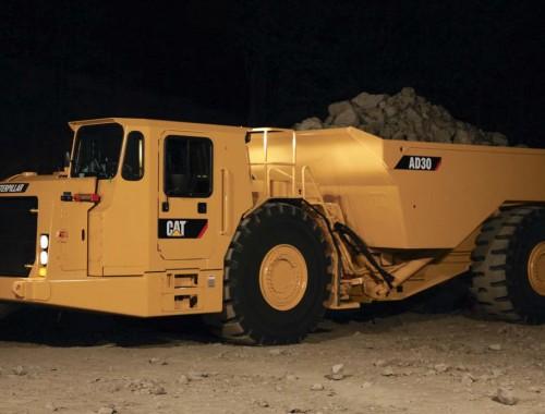 Caterpillar AD30 underground trucks