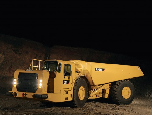 Caterpillar AD45B underground mining trucks
