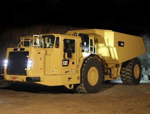 Caterpillar AD60 HR underground mining vehicle