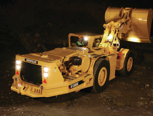 caterpillar r1300g underground mining scoop and underground loader - LHD