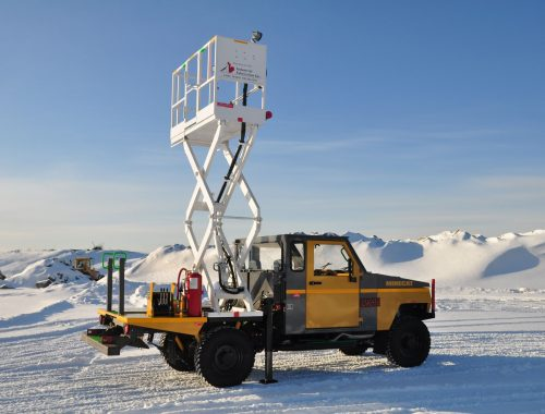 Minecat ut99 rear scissor lift - mobile scissor lift mining vehicle