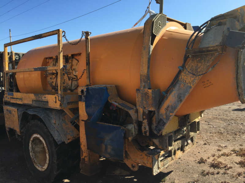 orange mining equipment concrete mixer