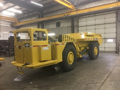 yellow support mining vehicle